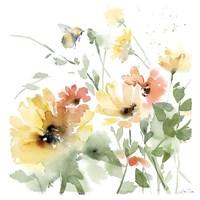 Sunflower Meadow I Framed Print