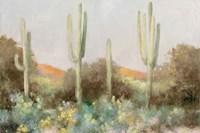 Sunrise Desert III Neutral Framed Print