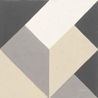 Triangles I Neutral Crop Framed Print