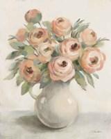 Blush Flowers in a Jug Fine Art Print