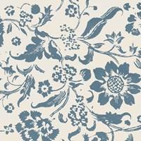 Floral Toile II Framed Print
