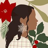 Christmas Earring III Framed Print