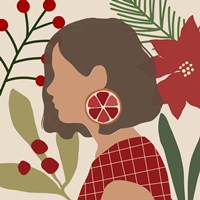 Christmas Earring IV Framed Print