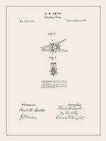 Laundry Patent II Framed Print