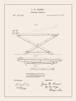 Laundry Patent IV Framed Print