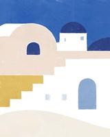 Simple Santorini I Framed Print