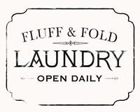 Fluff & Fold I Framed Print
