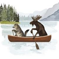 Canoe Trip II Framed Print