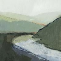 Riverbend Landscape I Framed Print