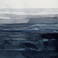 Rising Blue II Framed Print
