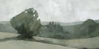 Soft Green Landscape I Framed Print