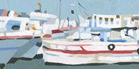 Bright Boats I Fine Art Print
