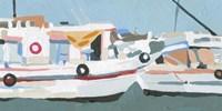 Bright Boats II Framed Print