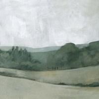 Soft Evening Landscape II Framed Print