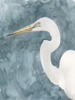 Watercolor Heron Portrait I Framed Print