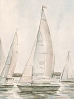 Sail Scribble I Framed Print
