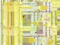 Yellow Curves IV Framed Print