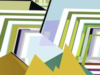Yellow Mountains II Framed Print