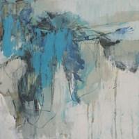 Painterly Teal II Fine Art Print