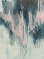 Blush Cascade I Framed Print