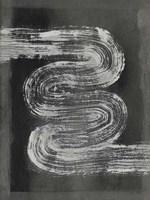 Grey Linear Path I Framed Print