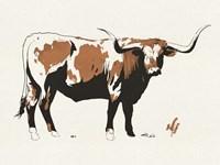Terre Cotta Steer I Framed Print