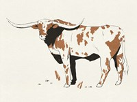 Terre Cotta Steer II Framed Print