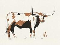 Terre Cotta Steer III Framed Print