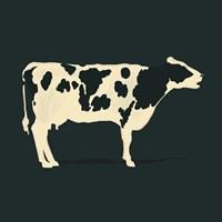 Refined Holstein I Framed Print