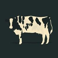 Refined Holstein V Framed Print