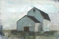 Barn at Sunset I Framed Print