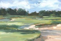 Golf Course Study II Framed Print