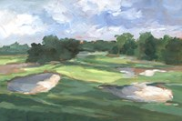 Golf Course Study III Framed Print