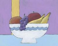 White Fruit Bowl I Framed Print