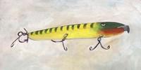 Retro Fishing Lure I Framed Print