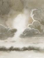 Sepia Sky I Framed Print