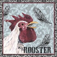 White Rooster I Framed Print