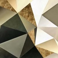 Gold Polygon Wall I Framed Print