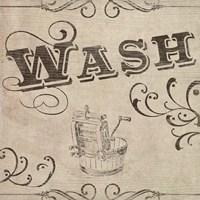 Vintage Laundry Signs II Framed Print