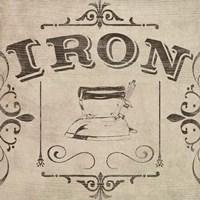Vintage Laundry Signs VI Framed Print