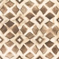 Umber Tile III Framed Print