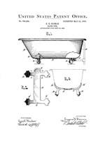 Bath Time Patents I Framed Print