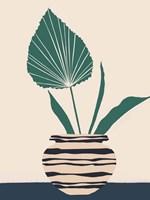 Dancing Vase With Palm I Framed Print