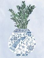 Moonlight Vase I Framed Print
