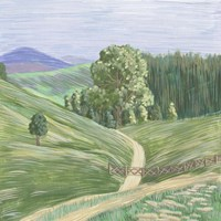 Hill Lines I Framed Print