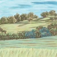 Hill Lines II Framed Print