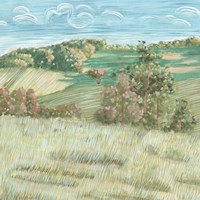 Hill Lines VI Framed Print