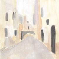 Pastel Streets I Framed Print