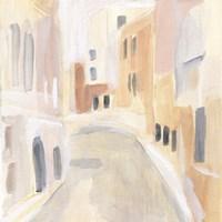 Pastel Streets II Framed Print