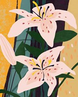 Lily Collage II Framed Print